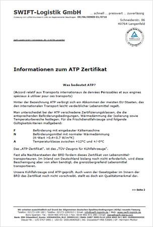 ATP-Zertifikat